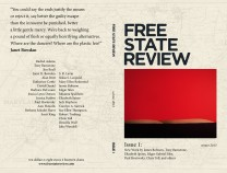 Front and back cover design for literary magazine Free State Review.